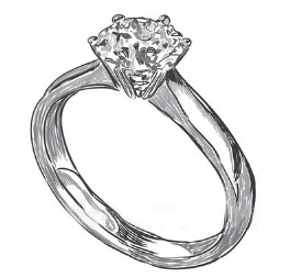Clear Diamond Ring