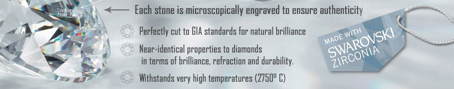 Swarovski Rings - Simulated Diamonds cut to GIA standards with near-identical diamond qualities