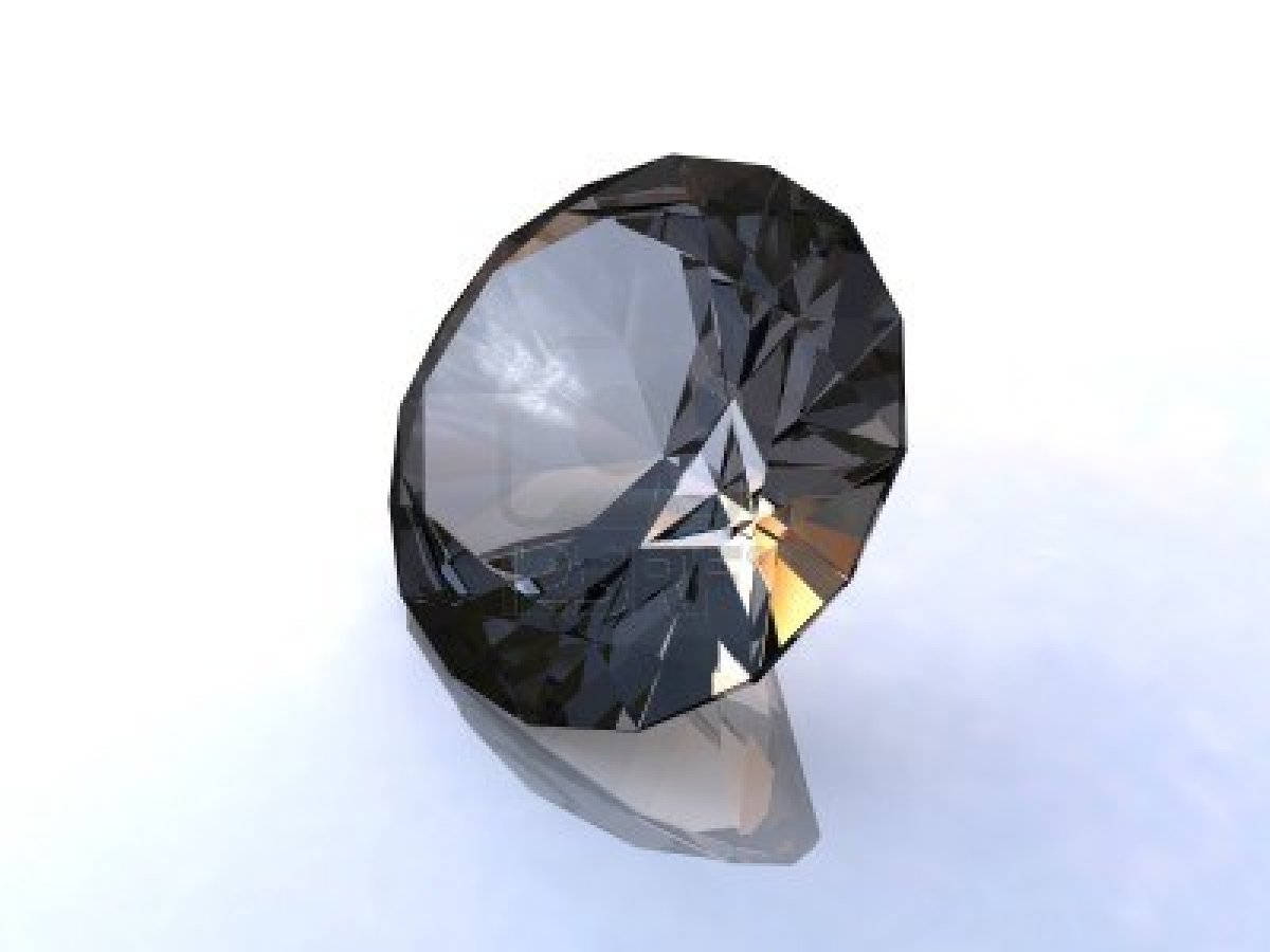 Black Diamond  From A Black Diamond Engagement Ring