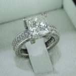 Floral Princess Shaped Diamond Ring