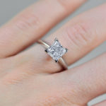 2ct Solitaire Princess cut Engagement Ring