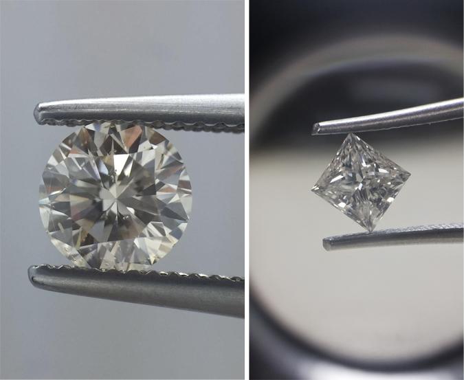 Compare Princess and Round Diamonds