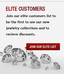 Join our elite customers list to be the first to see our new jewlelry collections and to recieve discounts.