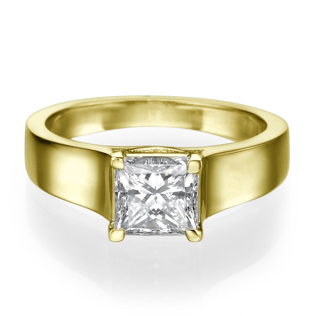 1 1 2 Carat F VS Enhanced Diamond Engagement Ring Princess Cut 18K White Gold