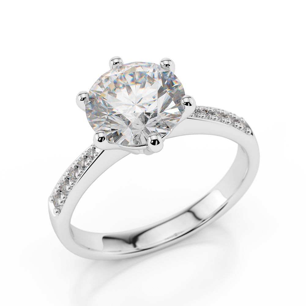 3 4 ct enhanced round diamond engagement ring f si1 18k. Black Bedroom Furniture Sets. Home Design Ideas
