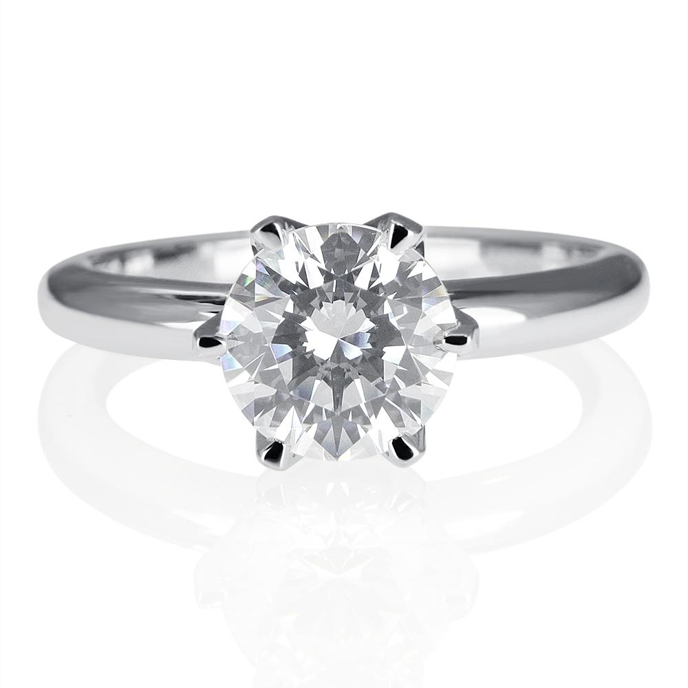 2 carat bridal round cut diamond engagement ring d si1 14k. Black Bedroom Furniture Sets. Home Design Ideas