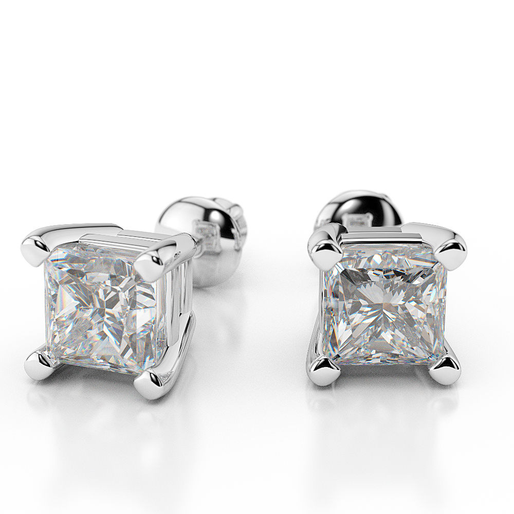 D/VVS1 Man Made Diamonds Stud Earrings 2 1/2 Carat ...