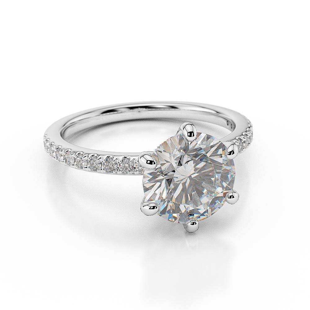 christmas g i1 round cut enhanced diamond engagement ring. Black Bedroom Furniture Sets. Home Design Ideas