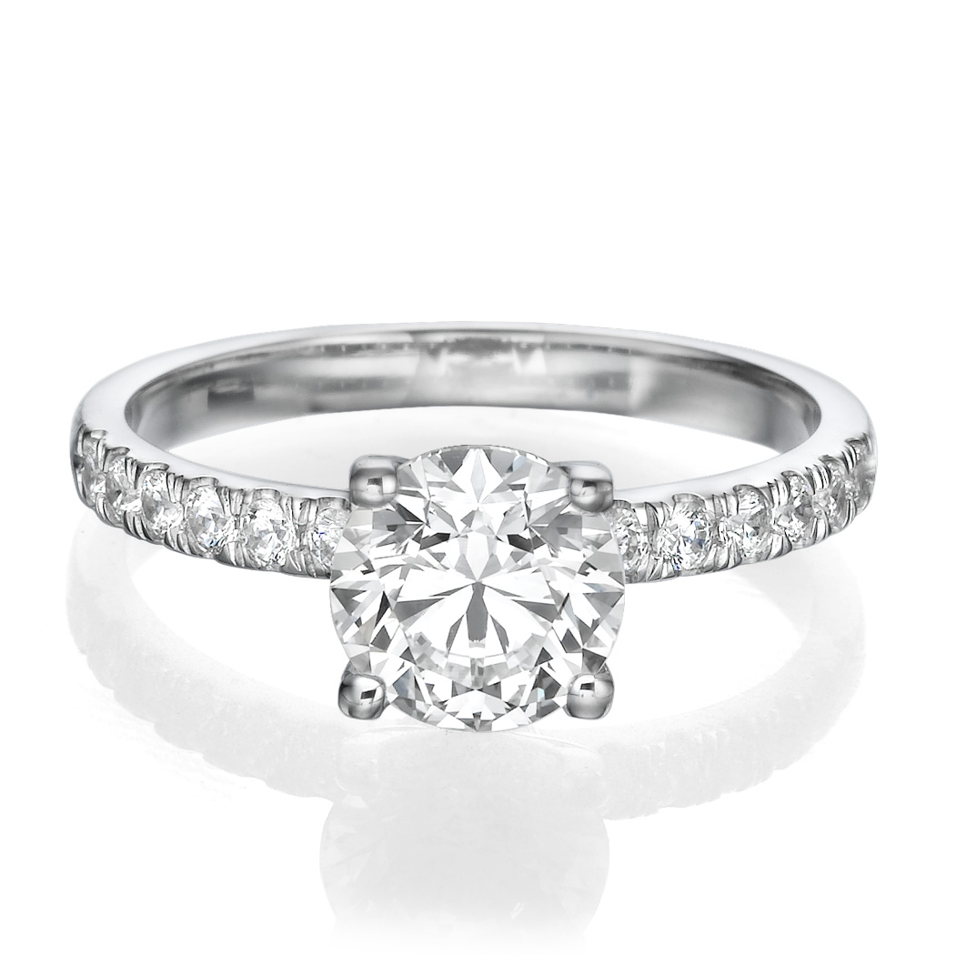 ct e f si1 round cut diamond engagement ring 14k. Black Bedroom Furniture Sets. Home Design Ideas