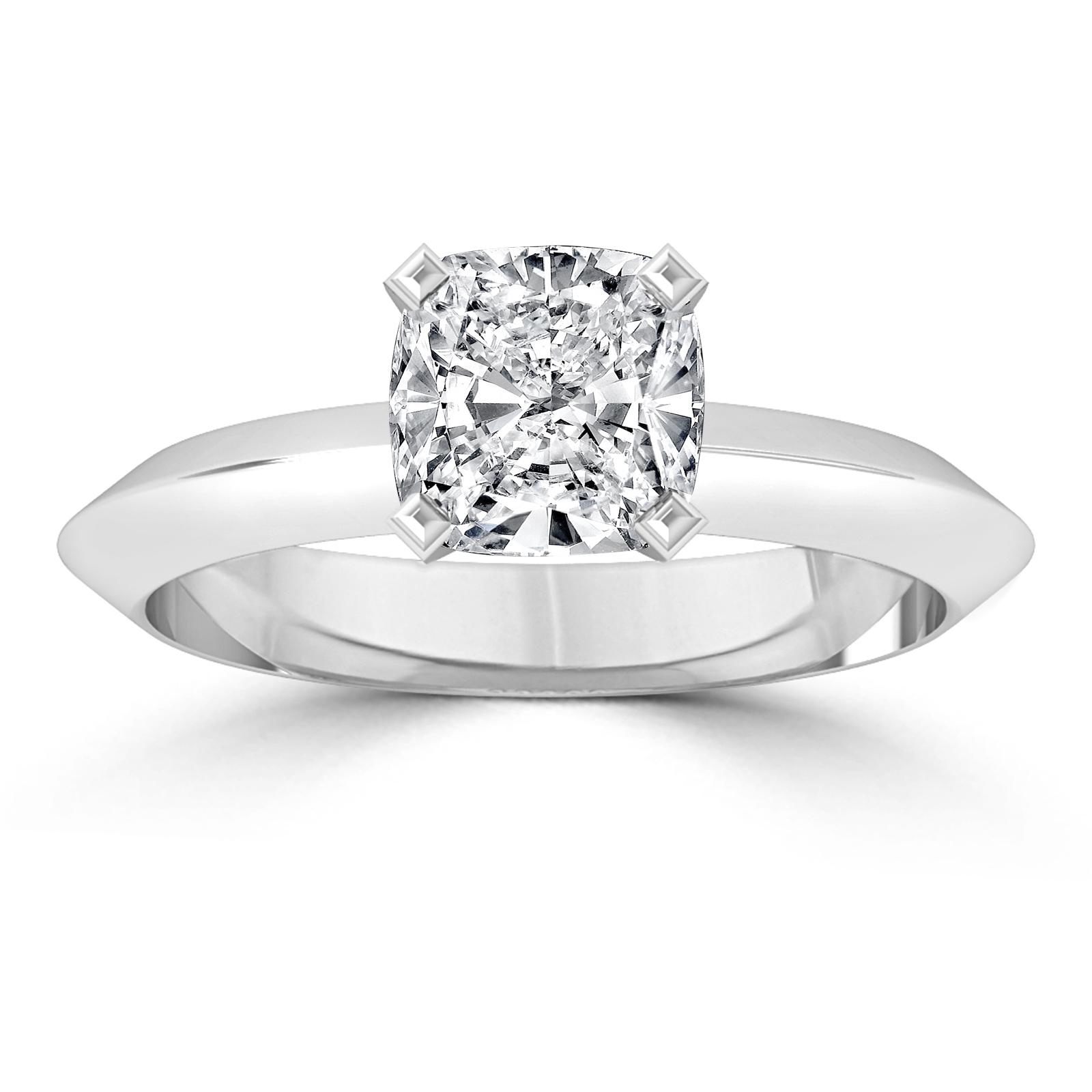 1 ct valentine 39 s enhanced diamond engagement ring cushion. Black Bedroom Furniture Sets. Home Design Ideas